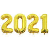- 2021 Altın Sarı Folyo Balon Seti