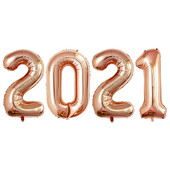 - 2021 Rose Gold Folyo Balon Seti