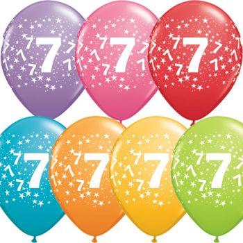 7 Rakamı Lateks Balon