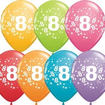 8 Rakamı Lateks Balon