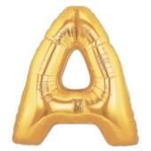 - A Harfi Altın Sarı Folyo Balon