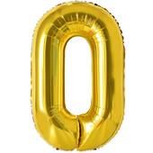 - Altın Sarı ''0'' Rakamı Folyo Balon (100 cm)
