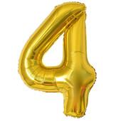 - Altın Sarı ''4'' Rakamı Folyo Balon (100 cm)