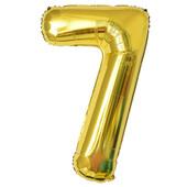 - Altın Sarı ''7'' Rakamı Folyo Balon (100 cm)