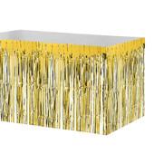 - Altın Sarı Metalik Folyo Masa Eteği