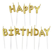 - Altın Sarı Happy Birthday Mum Seti