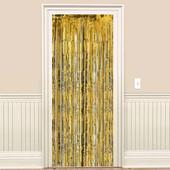 - Altın Sarı Kapı - Duvar Folyo Fon Perdesi