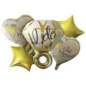 - Altın Sarı Tektaş Yüzük Folyo Balon Seti