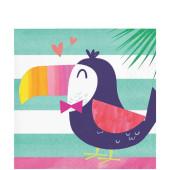 - Ananas, Flamingo ve Papağan Küçük Peçete