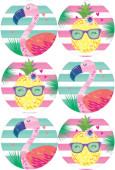 - Ananas ve Flamingo Büyük Etiket