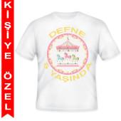 - Atlıkarınca Partisi Kişiye Özel Baskılı T-Shirt
