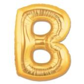 - B Harfi Altın Sarı Folyo Balon