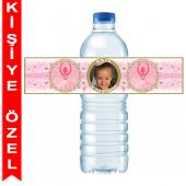 - Balerin Kız Kişiye Özel Su Şişesi Bandı