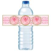 - Balerin Kız Su Şişesi Etiketi