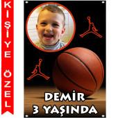 - Basketbol Kişiye Özel Fotoğraflı Afiş