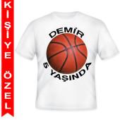 - Basketbol Partisi Kişiye Özel Baskılı T-Shirt