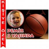 - Basketbol Partisi Kişiye Özel Fotoğraflı Magnet