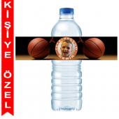 - Basketbol Partisi Kişiye Özel Su Şişesi Bandı