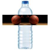- Basketbol Partisi Su Şişesi Etiketi
