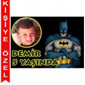 - Batman Kişiye Özel Fotoğraflı Magnet