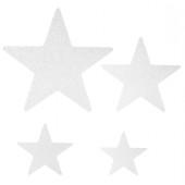 - Beyaz Yıldızlar Simli Strafor Mekan Süsü