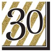 - Black & Gold Partisi 30 Yaş Peçete