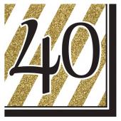 - Black & Gold Partisi 40 Yaş Peçete
