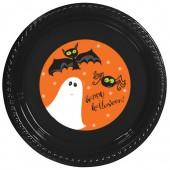- Cadılar Bayramı Etiketli Siyah Tabak