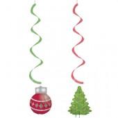 - Çam Ağacı ve Kırmızı Top Süs Dalgaları
