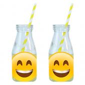 - Çılgın Emojiler Limonata-Meşrubat Şişesi