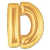 - D Harfi Altın Sarı Folyo Balon
