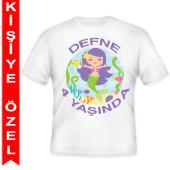- Deniz Kızı Kişiye Özel Baskılı T-Shirt
