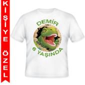 - Dinozorlar Diyarı Kişiye Özel Baskılı T-Shirt