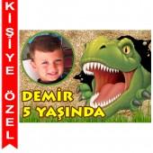 - Dinozorlar Diyarı Kişiye Özel Fotoğraflı Magnet