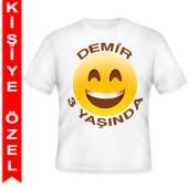 - Gülen Yüzler Kişiye Özel Baskılı T-Shirt
