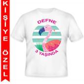 - Flamingo Kişiye Özel Baskılı T-Shirt