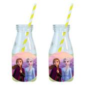 - Frozen 2 Etiketli Limonata-Meşrubat Şişesi