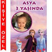- Frozen 2 Fotoğraflı Kişiye Özel Afiş