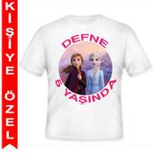- Frozen 2 Kişiye Özel Baskılı T-shirt