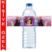 - Frozen 2 Kişiye Özel Su Şişesi Bandı