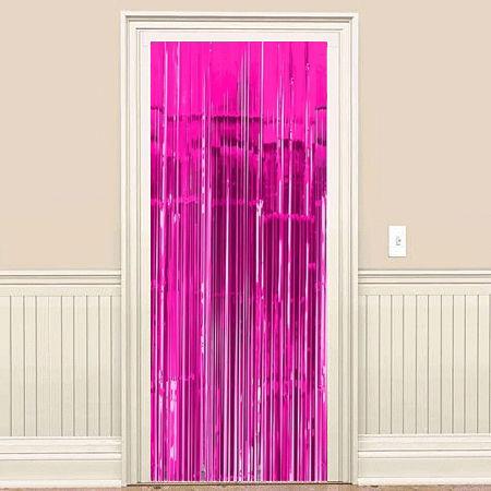 Fuşya Kapı - Duvar Folyo Fon Perdesi