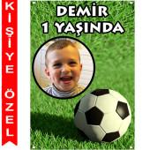 - Futbol Kişiye Özel Fotoğraflı Afiş