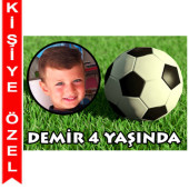 - Futbol Partisi Kişiye Özel Fotoğraflı Magnet
