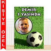 - Futbol Partisi Kişiye Özel Masa Süsü