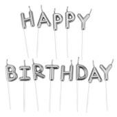 - Gümüş Gri Happy Birthday Mum Seti