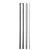 - Gümüş Gri Metalik İnce Uzun Mum (20cm)