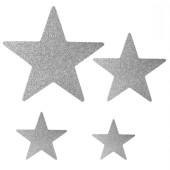 - Gümüş Gri Yıldızlar Simli Strafor Mekan Süsü