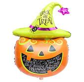- Halloween Şapkalı Balkabağı Folyo Balon