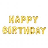 - Happy Birthday Altın Sarı Harfler Folyo Balon