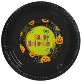 - Happy Halloween Etiketli Siyah Tabak